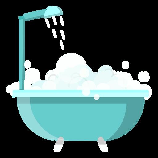 Icono de bañera con ducha. Transparent PNG