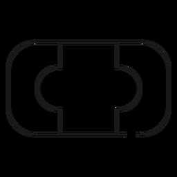 Badeseife Schlaganfall-Symbol