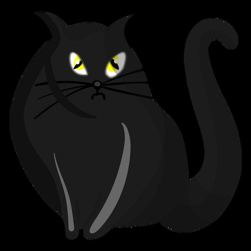 Black cat illustration Transparent PNG