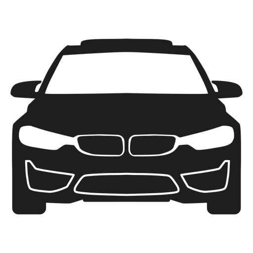 Bmw car front view silhouette Transparent PNG