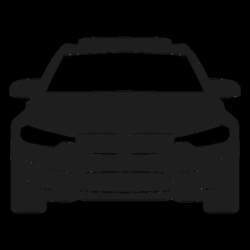 Silhueta de vista frontal do carro BMW Transparent PNG