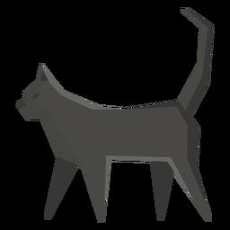 Ilustración geométrica del gato bombay