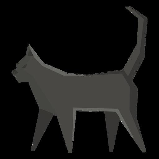 Bombay cat geometric illustration Transparent PNG