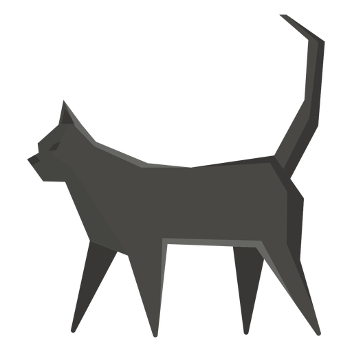 Ilustración geométrica del gato bombay Transparent PNG