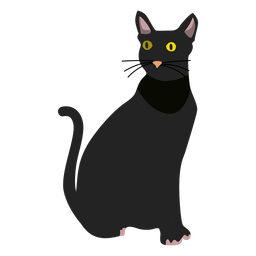 Bombay cat illustration