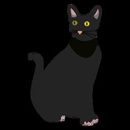 Ilustración del gato bombay