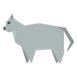 Ilustração geométrica de gato shorthair britânico