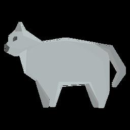 Ilustración geométrica del gato británico de pelo corto