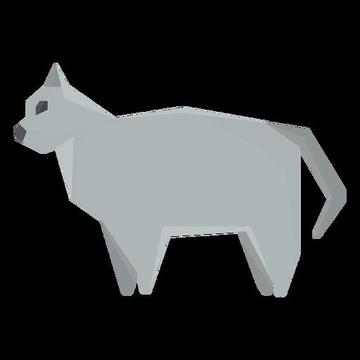 Ilustración geométrica del gato británico de pelo corto Transparent PNG