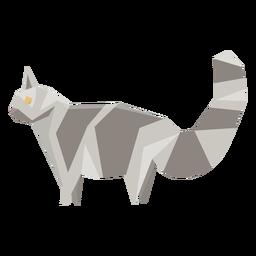 Ilustração geométrica animal gato