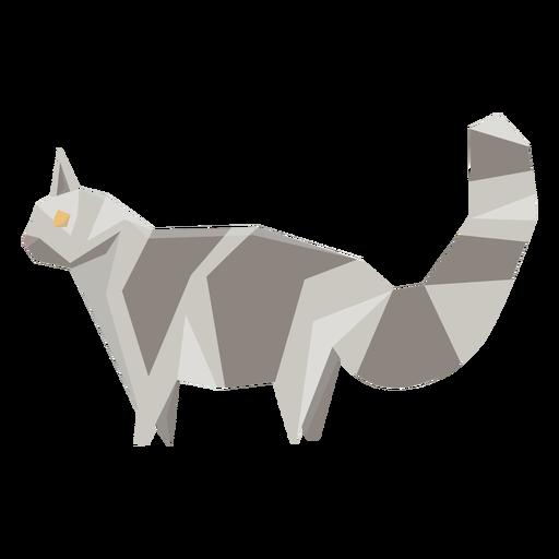 Cat animal geometric illustration Transparent PNG