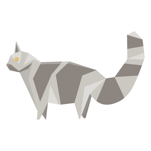 Ilustração geométrica animal gato Transparent PNG