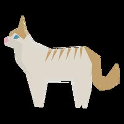 Ilustração geométrica de gato