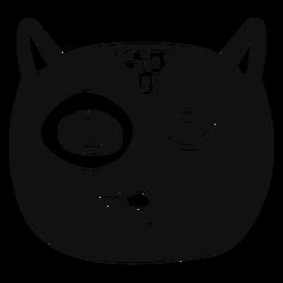 Katze Hand gezeichneter Avatar