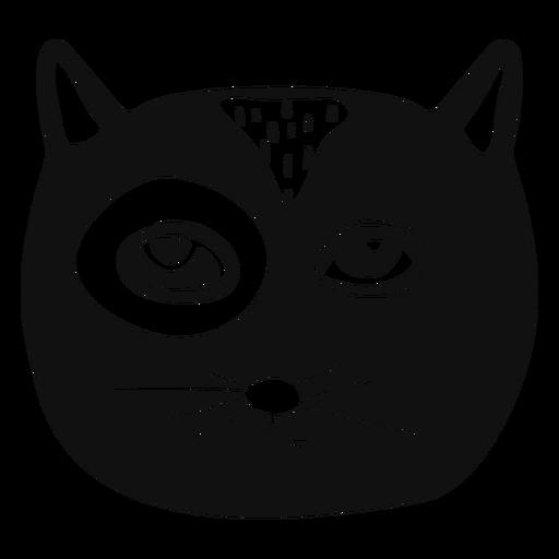 Gato dibujado a mano avatar Transparent PNG