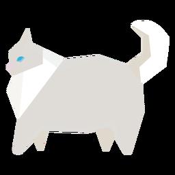 Ilustração geométrica de gato de estimação