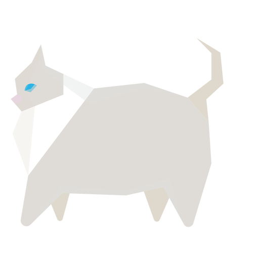 Cat pet geometric illustration Transparent PNG