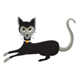 Cat with colar illustration