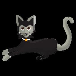 Gato con ilustración colar.