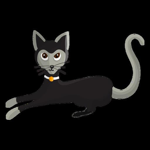 Gato com ilustração de colar Transparent PNG