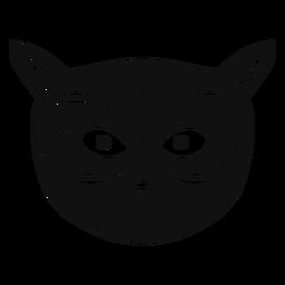 Gato con gafas dibujados a mano.
