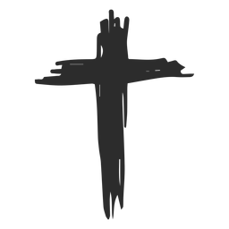Christian cross doodle icon