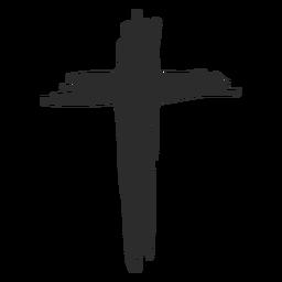 Ícone de doodle cruz cristã