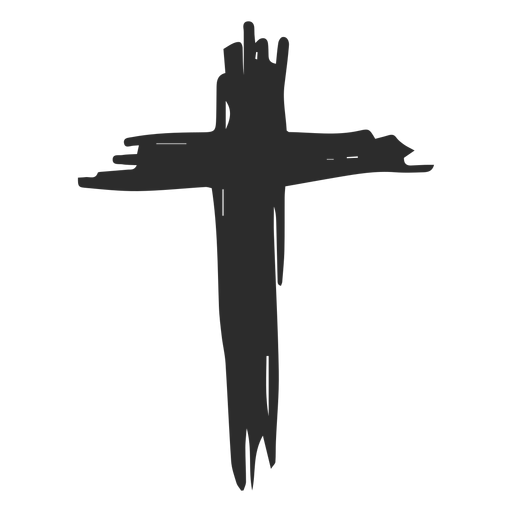 Christian cross doodle icon Transparent PNG