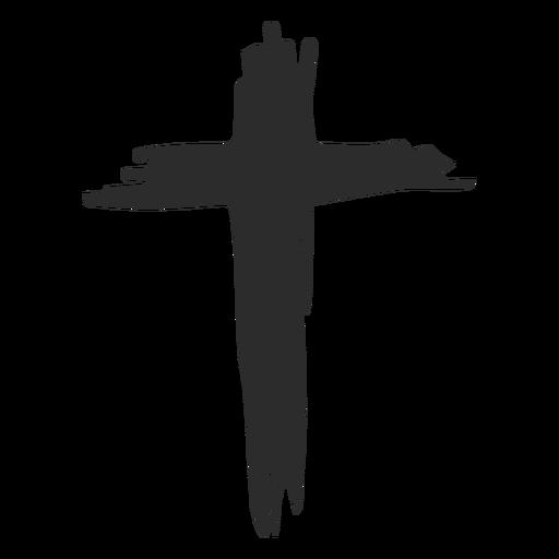 Icono de doodle de cruz cristiana Transparent PNG