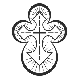 Christian cross element