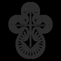 Elemento de cruz cristiana