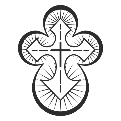 Christian cross element Transparent PNG
