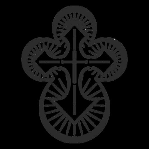 Elemento de cruz cristiana Transparent PNG