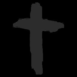 Christian cross hand drawn icon