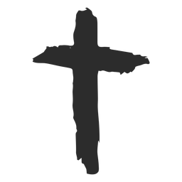 Icono dibujado mano cruz cristiana