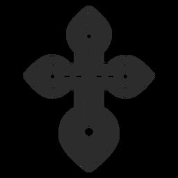 Christian cross icon