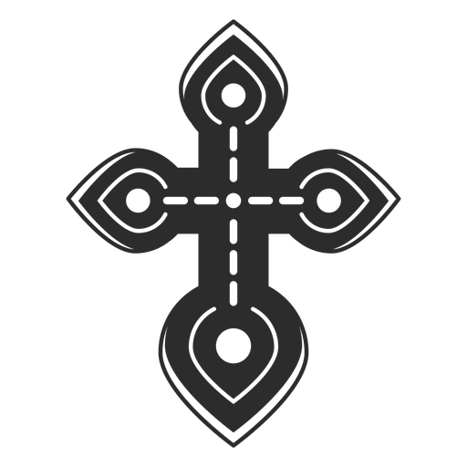 Christian cross icon Transparent PNG