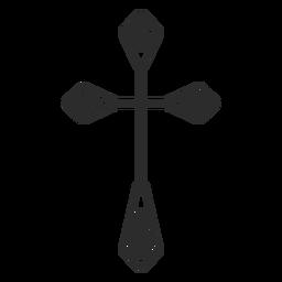 Icono religioso cruz cristiana