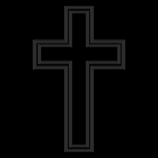 Símbolo religioso cruz cristiana