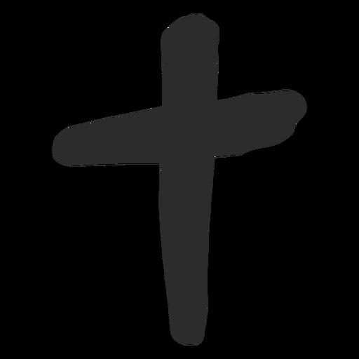 Icono de garabato cruz cristiana Transparent PNG