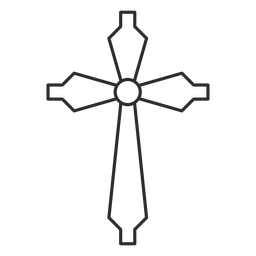 Christian cross stroke icon