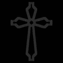 Icono de trazo de cruz cristiana