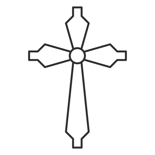Christian cross stroke icon Transparent PNG