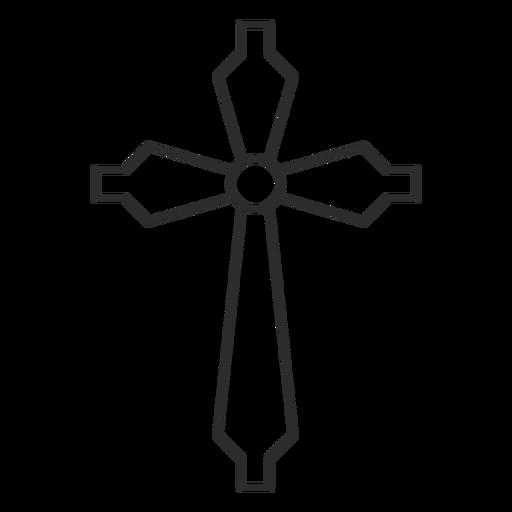 Icono de trazo de cruz cristiana Transparent PNG