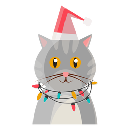 Christmas cat icon