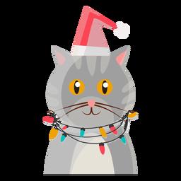 Icono de gato de navidad