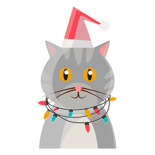 Christmas cat icon Transparent PNG