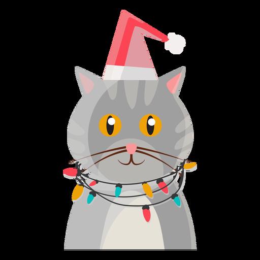 Icono de gato de navidad Transparent PNG