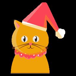 Sombrero de navidad icono de gato