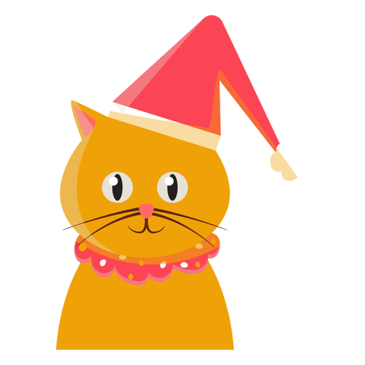 Christmas hat cat icon Transparent PNG
